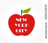 big apple   ny concept... | Shutterstock .eps vector #520410019