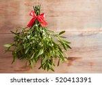 Broom from green mistletoe on...