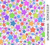 seamless pattern for childish... | Shutterstock .eps vector #520415119