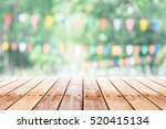 empty wooden table with party... | Shutterstock . vector #520415134