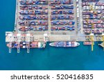 container container ship in... | Shutterstock . vector #520416835