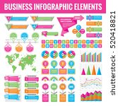 big set of business infographic ... | Shutterstock .eps vector #520418821
