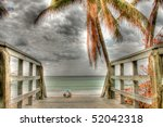 Hdr Image Of A Wooden Walkway...