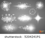 silver glitter bokeh lights and ... | Shutterstock .eps vector #520424191