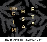 christmas greeting card with... | Shutterstock .eps vector #520424359