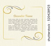 vector decorative frame.... | Shutterstock .eps vector #520428925