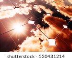 solar energy concept warm sky... | Shutterstock . vector #520431214