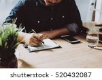 Image Of Businessman Working A...