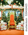 luxurious red chair santa claus ... | Shutterstock . vector #520433425