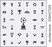 football cup icon. award icons... | Shutterstock .eps vector #520437205