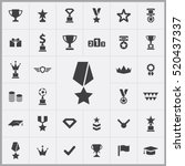 award icons universal set for... | Shutterstock .eps vector #520437337