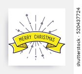 merry christmas new year design ... | Shutterstock .eps vector #520437724