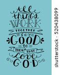 bible background with lettering ... | Shutterstock .eps vector #520438099
