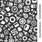 auto car spare parts seamless...   Shutterstock .eps vector #520438384