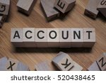 Small photo of ACCOUNT Word Written In Wooden Cube