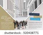 green template for advertising... | Shutterstock .eps vector #520438771