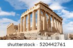parthenon temple on a bright... | Shutterstock . vector #520442761