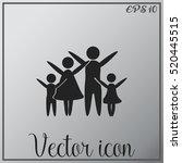 family vector icon | Shutterstock .eps vector #520445515