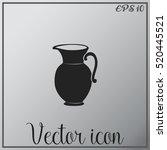 jug vector icon.  | Shutterstock .eps vector #520445521