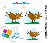 find 5 differences. cartoon...   Shutterstock .eps vector #520446589