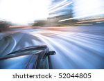 the car moves at great speed at ... | Shutterstock . vector #52044805