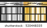 gold and silver gradient square ... | Shutterstock .eps vector #520448335