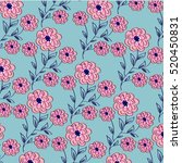 flower pattern | Shutterstock .eps vector #520450831