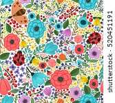 vector seamless pattern with...   Shutterstock .eps vector #520451191