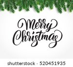merry christmas card with text... | Shutterstock .eps vector #520451935