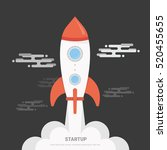 flat design business startup... | Shutterstock .eps vector #520455655