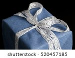 closeup on white lace ribbon... | Shutterstock . vector #520457185