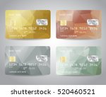 realistic detailed credit cards ... | Shutterstock .eps vector #520460521