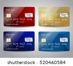 realistic detailed credit cards ... | Shutterstock .eps vector #520460584