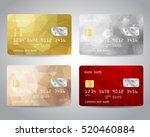 realistic detailed credit cards ... | Shutterstock .eps vector #520460884