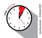 five minutes clock. stopwatch... | Shutterstock .eps vector #520461529