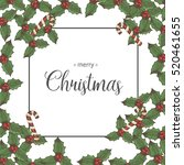 vector christmas background... | Shutterstock .eps vector #520461655