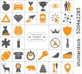 ticket icon. vector... | Shutterstock .eps vector #520462285