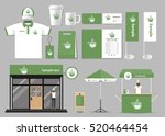 corporate branding for coffee... | Shutterstock .eps vector #520464454