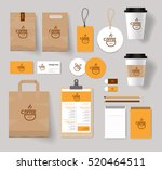 corporate branding identity... | Shutterstock .eps vector #520464511