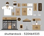 corporate branding for coffee... | Shutterstock .eps vector #520464535