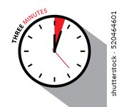 three minutes clock. stopwatch... | Shutterstock .eps vector #520464601