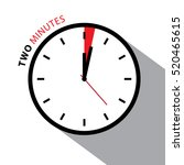 two minutes clock. stopwatch... | Shutterstock .eps vector #520465615