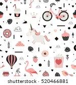 cute vector seamless pattern... | Shutterstock .eps vector #520466881
