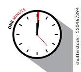 one minute clock. stopwatch... | Shutterstock .eps vector #520467394