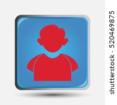 person icon for social network... | Shutterstock .eps vector #520469875