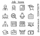 job   employment icon set in... | Shutterstock .eps vector #520470079