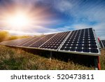 photovoltaic panels  ... | Shutterstock . vector #520473811