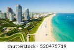 south beach  miami beach.... | Shutterstock . vector #520475719