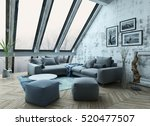 Rooftop Apartment Interior With ...