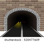 automobile road tunnel vector... | Shutterstock .eps vector #520477609
